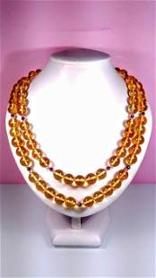 Honey colour Baltic Amber - Necklace, Earrings