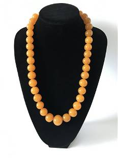 Remarkable Unique Antique Amber Necklace made from
