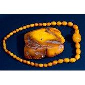 31 g. Vintage 100% natural Baltic amber necklace
