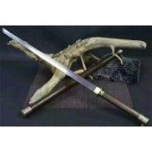 Dagger blade damascus steel sword hunting alloy wood