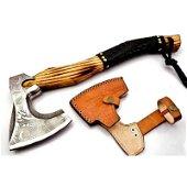 Everyday carry viking axe tomahawk wood steel splitter