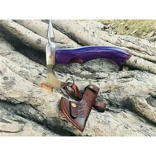 Everyday carry viking axe wood carbon steel splitter