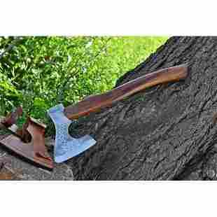 Everryday carry splitter viking axe tomahawk wood steel