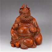 Bamboo Root Mythology Figure Statue - Zhong Kui