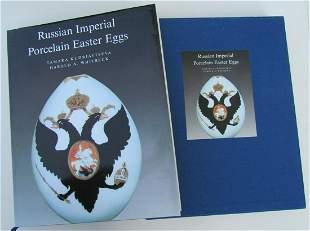 RUSSIAN IMPERIAL PORCELAIN EGGS by T.KUDRIAVTSEVA