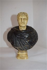 Bust in marble and precious material of the 19th