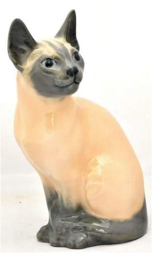Porcelain figure of cat
