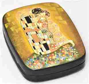 Lacquer Box, Klimt, Fedoskino