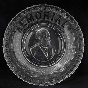 19th C President James A Garfield Memorial EAPG Plate