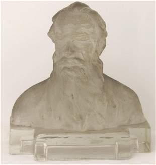 Tolstoy, Lev Nikolaevich, Bust, Glass