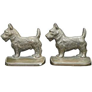 Scotty Dog Hubley Iron Pair of Bookends Circa 1925