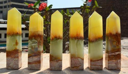 1600 Grams Beautiful Lemon Calcite Towers
