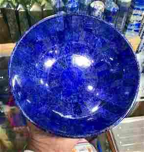 Hand Crafted Lapis Lazuli Bowl Ovel Shape, 700 Gram