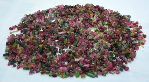 250 Grams Beautiful Mix Tourmaline Rough Crystals