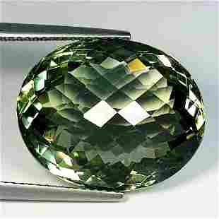 Natural Green Amethyst Oval Cut 24.00 Ct