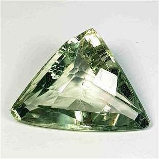 Natural Green Amethyst Triangle Cut 6.66 Ct