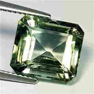 Natural Green Amethyst Octagon Cut 6.27 Ct