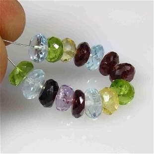 18.29 Ctw Natural 15 Semi Precious Round Beads