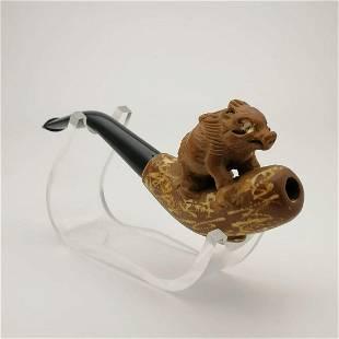 Wild Boar,Meerschaum Cigarette Holder