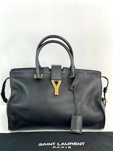 Saint Laurent Classic Y Cabas Medium Black Leather Hand
