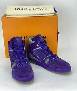 Louis Vuitton Purple LV TRAINER SNEAKER Size UK 10.5 US