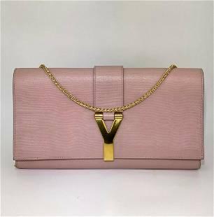 Saint Laurent Pink Textured Calfskin Y Ligne 2 Ways