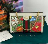 Gucci Ophidia Flora GG Small Supreme Canvas Shoulder