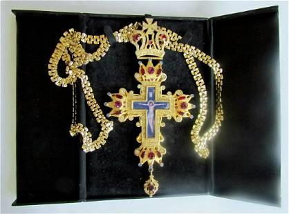 GREEK RUSSIAN ORTHODOX CHURCH VINTAGE PECTORAL PRIEST
