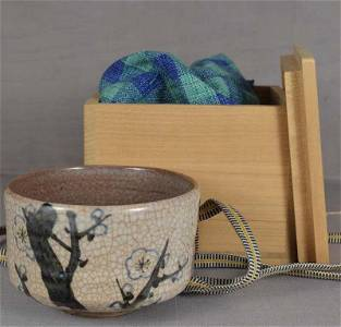 1910s Shigaraki CHAWAN tea ceremony bowl APRICOT