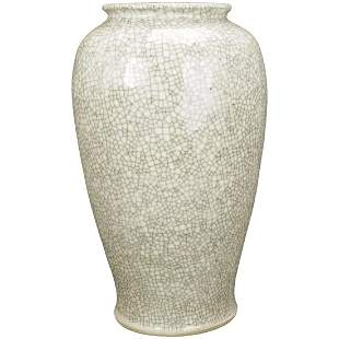 Large Qing/Republic Chinese Crackle Ware Vase