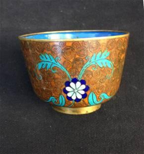 Chinese cloisonné enamel bowl
