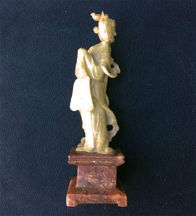 Chinese soapstone carving of Guanyin, Republic or