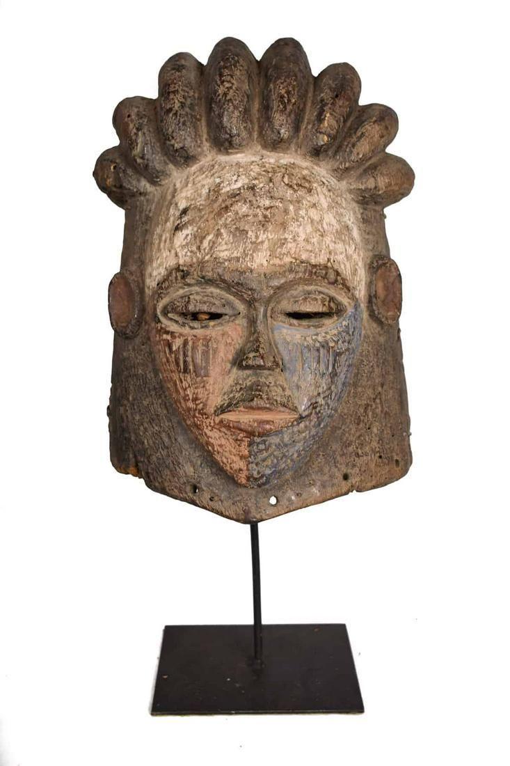 Helmet Mask – Wood – Kwese – Gabon