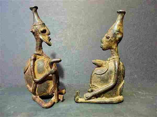 Dogon couple in bronze