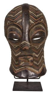 Female Mask – Wood – Kifwebe – Songye