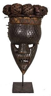 Initiation mask – Copper, Plant fibre, Wood