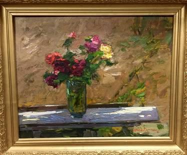 Oil painting In the garden Zakharov Fedor Zakharovich