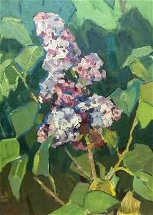 Oil painting Lilac Gorinov Spartak Petrovich