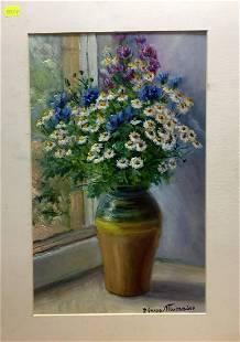 Double oil painting Daisies Pidgayko Lev Sergeevich