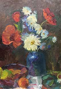 Oil painting Flowers and fruits Gantman Moses Faybovich