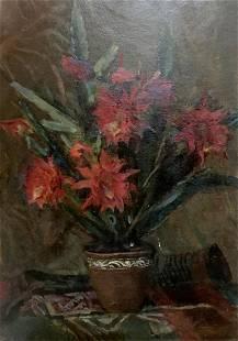 Oil painting Cactus blooms Stashkov Vyacheslav