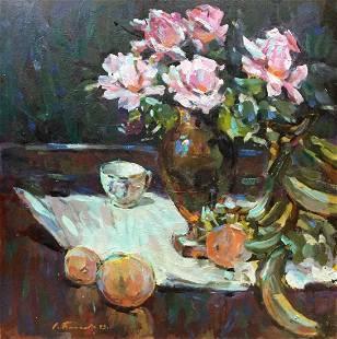 Oil painting Roses Bakaev Sergey Ivanovich