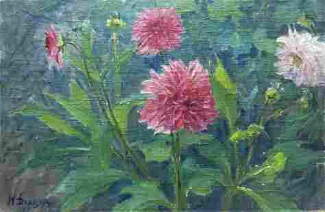 Oil painting Dandelions M. Dintsod