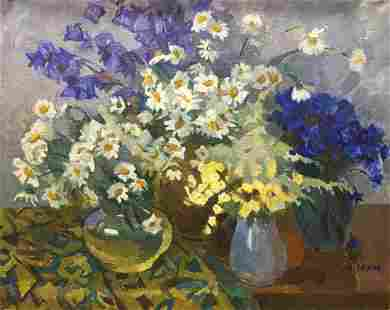 Oil painting Camomile Yukhno-Gurevich Anna Meerovna