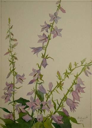 Watercolor painting Bells Kalebets Valery