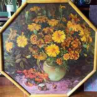 Oil painting Autumn bouquet Тucxin Yuri
