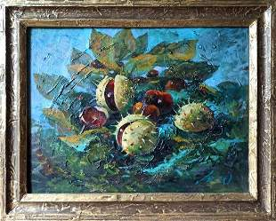 Oil painting Chestnuts Тucxin Yuri Alekseevich