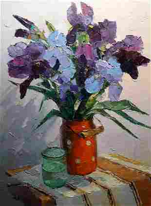 Oil painting Irises Serdyuk Boris Petrovich