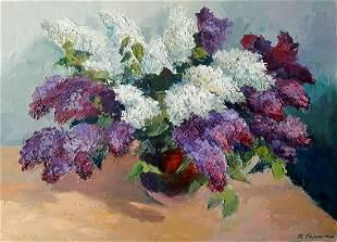 Oil painting Lilac Serdyuk Boris Petrovich