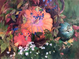 Oil painting Cosiness in the basket Procach Olesia